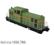 Купить «Зеленый поезд. Изолировано», иллюстрация № 656786 (c) ИЛ / Фотобанк Лори