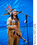 Купить «Поющий индеец», фото № 657210, снято 4 июня 2007 г. (c) Мирослава Безман / Фотобанк Лори