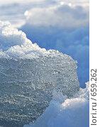 Купить «Лед и снег на реке», фото № 659262, снято 5 февраля 2008 г. (c) Dina / Фотобанк Лори