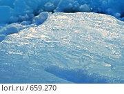 Купить «Лед освещенный солнечным светом», фото № 659270, снято 5 февраля 2008 г. (c) Dina / Фотобанк Лори