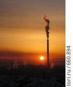 Закат индустрии. Стоковое фото, фотограф Евгений Булатов / Фотобанк Лори