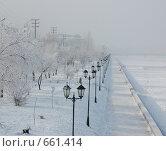 Купить «Набережная Затона в г. Астрахань», фото № 661414, снято 15 января 2009 г. (c) Кирилл Федорин / Фотобанк Лори