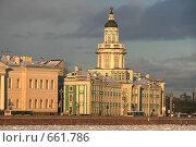 Купить «Санкт-Петербург. Вид на Кунсткамеру», фото № 661786, снято 8 января 2009 г. (c) Александр Секретарев / Фотобанк Лори