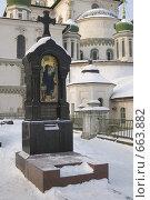 Купить «Новый Иерусалим. Надгробие», фото № 663882, снято 8 января 2009 г. (c) Елена Прокопова / Фотобанк Лори