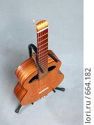 Купить «Гитара шестиструнная, безголовая», фото № 664182, снято 10 октября 2007 г. (c) Аlexander Reshetnik / Фотобанк Лори