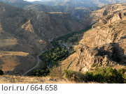 Купить «Старая горная дорога, ведущая в Джермук», фото № 664658, снято 5 августа 2007 г. (c) Марианна Меликсетян / Фотобанк Лори