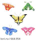 Декоративные бабочки. Стоковая иллюстрация, иллюстратор Дмитрий Хрусталев / Фотобанк Лори