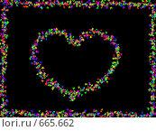 Сердце из бабочек. Стоковая иллюстрация, иллюстратор tyuru / Фотобанк Лори