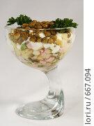 Коктейль-салат оливье (2008 год). Редакционное фото, фотограф Дмитрий Натарин / Фотобанк Лори