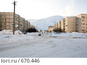 Улица города Кировск (2008 год). Стоковое фото, фотограф Наталья Махалина / Фотобанк Лори