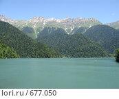 Купить «Озеро Рица», фото № 677050, снято 9 июля 2008 г. (c) Vladimir Semushin / Фотобанк Лори