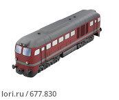 Купить «Красный поезд», иллюстрация № 677830 (c) ИЛ / Фотобанк Лори