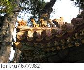 Купить «Фигурки на крыше китайской пагоды», фото № 677982, снято 6 сентября 2007 г. (c) Екатерина Овсянникова / Фотобанк Лори