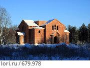 Купить «Благовещенский собор Никандровой пустыни. Восстановление», фото № 679978, снято 8 января 2009 г. (c) Nikiandr / Фотобанк Лори