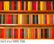 Деревянный шкаф с разноцветными книгами (2008 год). Редакционное фото, фотограф Константин Хрипунков / Фотобанк Лори