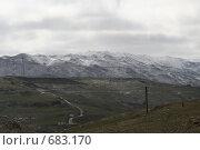 Купить «Западный горный хребет Ливана. Зима. Пасмурно.», фото № 683170, снято 3 января 2009 г. (c) Дживита / Фотобанк Лори