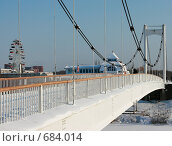Купить «Парковый мост в Йошкар - Оле через реку Малая Кокшага», фото № 684014, снято 1 февраля 2009 г. (c) Татьяна Лепилова / Фотобанк Лори