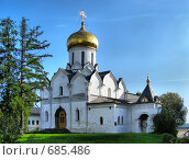 Купить «Звенигород. Саввино-Сторожевский монастырь», эксклюзивное фото № 685486, снято 25 сентября 2008 г. (c) lana1501 / Фотобанк Лори