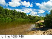 Купить «Река Бердь. Новосибирская область.», фото № 686746, снято 13 июля 2008 г. (c) Селигеев Андрей Иванович / Фотобанк Лори