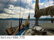 Купить «Яхта. Енисей. Красноярское водохранилище.», фото № 686770, снято 5 июля 2008 г. (c) Селигеев Андрей Иванович / Фотобанк Лори
