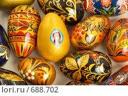 Купить «Цветные пасхальные яйца», фото № 688702, снято 14 января 2008 г. (c) Юрий Пономарёв / Фотобанк Лори