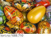 Купить «Цветные пасхальные яйца», фото № 688710, снято 15 января 2008 г. (c) Юрий Пономарёв / Фотобанк Лори