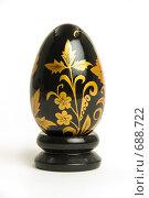 Черное пасхальное яйцо с золотым рисунком. Стоковое фото, фотограф Юрий Пономарёв / Фотобанк Лори