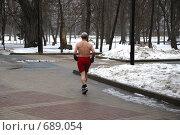 Купить «Бегущий мужчина», фото № 689054, снято 29 января 2009 г. (c) fotobelstar / Фотобанк Лори