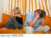 Купить «Конфликт между мужчиной и девушкой», фото № 690070, снято 21 января 2009 г. (c) Гладских Татьяна / Фотобанк Лори