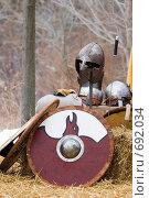 Купить «Обмундирование викингов», фото № 692034, снято 7 февраля 2009 г. (c) Игорь Киселёв / Фотобанк Лори