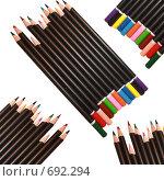 Купить «Цветные карандаши», фото № 692294, снято 8 февраля 2009 г. (c) Анжелика Самсонова / Фотобанк Лори