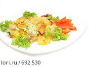 Купить «Картофель запеченный с сыром и овощами», фото № 692530, снято 4 февраля 2009 г. (c) Анна Игонина / Фотобанк Лори