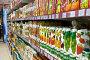 Полки с упаковками фруктовых соков  в супермаркете, фото № 692906, снято 8 февраля 2009 г. (c) Баевский Дмитрий / Фотобанк Лори