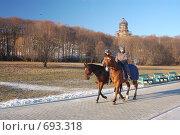 Конная милиция (2008 год). Редакционное фото, фотограф Китаев Олег Александрович / Фотобанк Лори