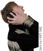 Купить «Кричащий парень в наушниках», фото № 697342, снято 30 января 2009 г. (c) pzAxe / Фотобанк Лори