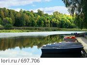 Купить «Лето, речка, лодочки», фото № 697706, снято 11 сентября 2007 г. (c) Потапов Денис / Фотобанк Лори