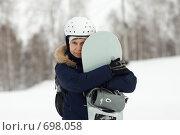 Купить «Сноубордистка», фото № 698058, снято 9 февраля 2009 г. (c) Смирнов Владимир / Фотобанк Лори