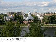 Купить «Памятник Афанасию Никитину в Твери. Вид сверху», фото № 698242, снято 26 июня 2008 г. (c) Анна Дегтярёва / Фотобанк Лори