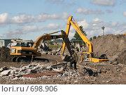 Купить «Спецтехника. Экскаватор», фото № 698906, снято 2 августа 2007 г. (c) Александр Секретарев / Фотобанк Лори