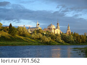 Борисоглебский монастырь в утренних лучах (2007 год). Стоковое фото, фотограф Юрков Виктор Петрович / Фотобанк Лори