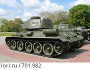 Купить «Экспозиция советских танков в Брестской крепости, на переднем плане Т-34», фото № 701982, снято 11 мая 2008 г. (c) Андрей Рыбачук / Фотобанк Лори