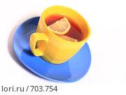 Кружка чая с лимоном. Стоковое фото, фотограф Романенко Юлия Игоревна / Фотобанк Лори