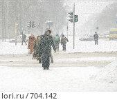 Купить «Снегопад зимой в России», фото № 704142, снято 31 января 2005 г. (c) Vladimirs Koskins / Фотобанк Лори