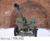 Купить «Дивизионная противотанковая 76 мм пушка ЗиС-3», фото № 708042, снято 16 февраля 2009 г. (c) Александра Стрижева / Фотобанк Лори