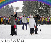 Купить «Лыжня России», фото № 708182, снято 10 февраля 2008 г. (c) Валерий Кондрашов / Фотобанк Лори