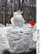 Скульптура из снега (2009 год). Редакционное фото, фотограф Павел Спирин / Фотобанк Лори