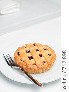 Купить «Вишневое пирожное», фото № 712898, снято 19 февраля 2009 г. (c) Сергей Старуш / Фотобанк Лори