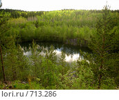 Купить «Горный парк Рускеала, озеро», фото № 713286, снято 13 июня 2006 г. (c) Алина Анохина / Фотобанк Лори