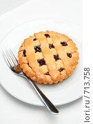 Купить «Вишневое пирожное», фото № 713758, снято 19 февраля 2009 г. (c) Сергей Старуш / Фотобанк Лори