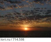 Закат на Азовском побережье. Стоковое фото, фотограф Сергей Седых / Фотобанк Лори